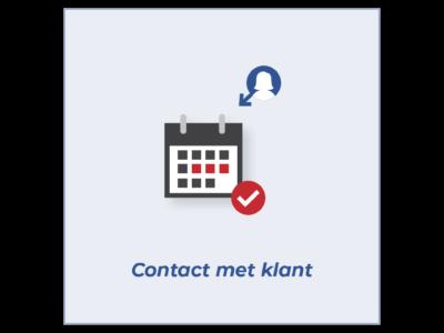 Tegel Contact met klant
