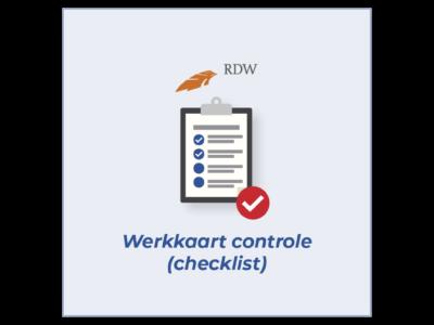 Tegel Werkkaart controle (checklist)